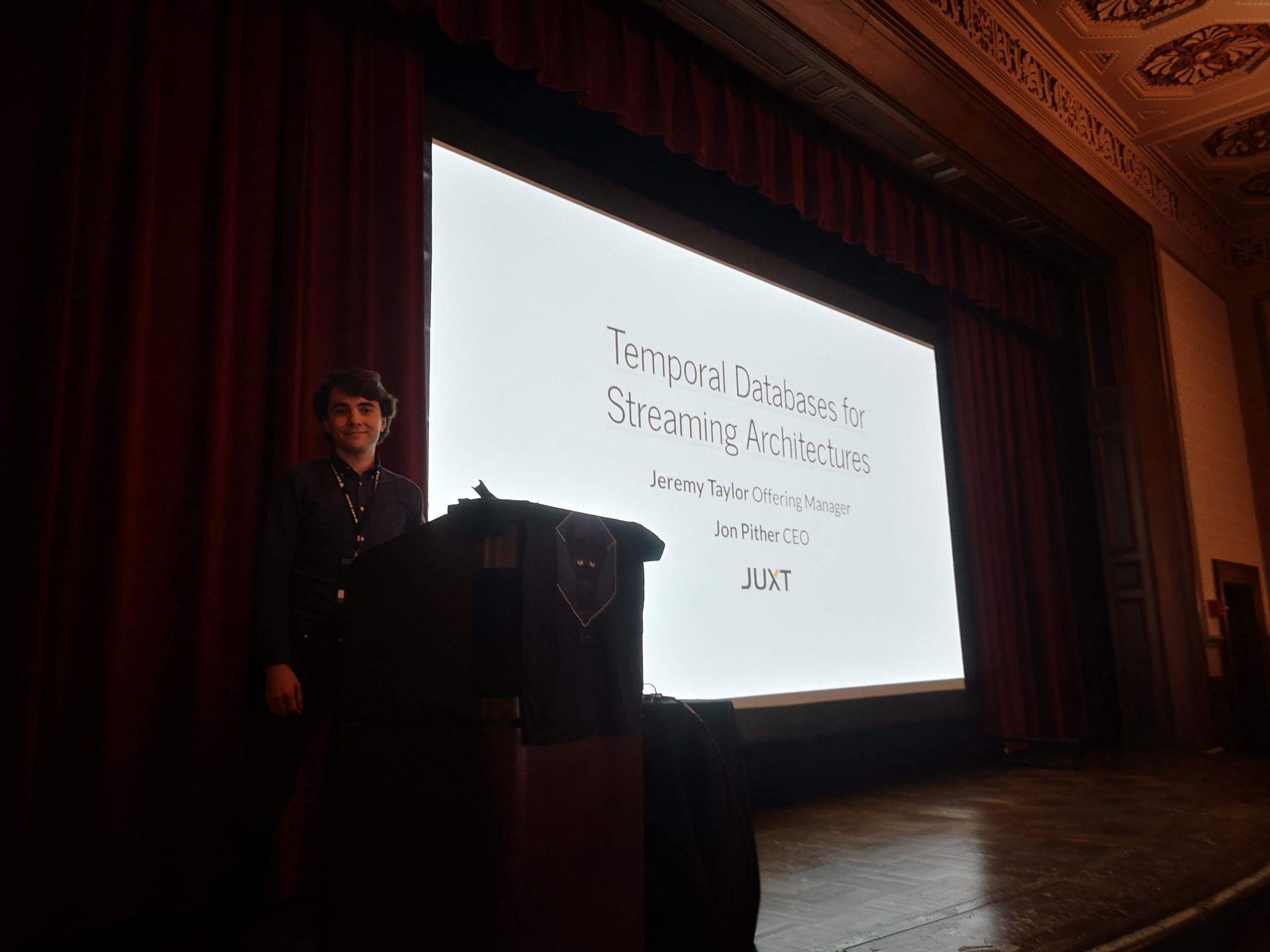 Jeremy at Strange Loop 2019 talking about Crux